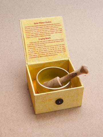 Solar Plexus Chakra Singing Bowl Giftbox