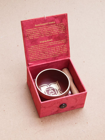 Root Chakra Singing Bowl Giftbox