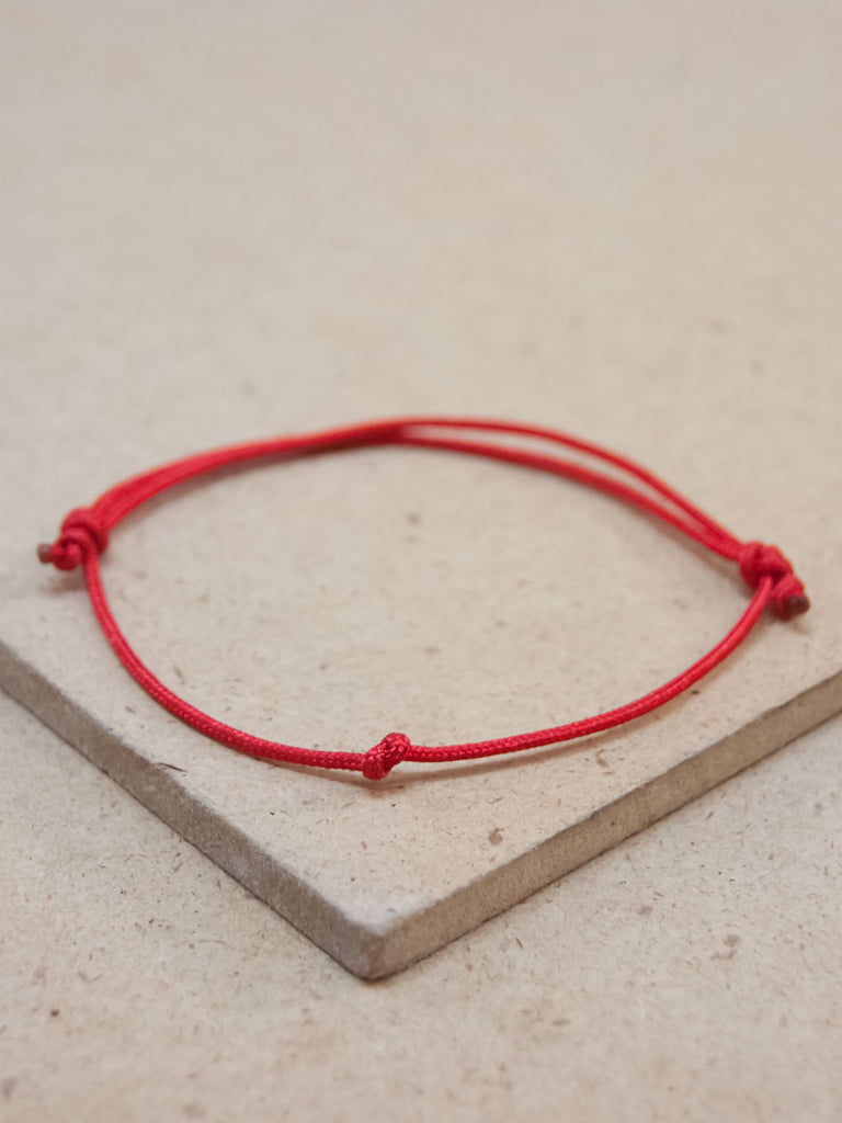 Tibetan Peace Red string Adjustable bracelet
