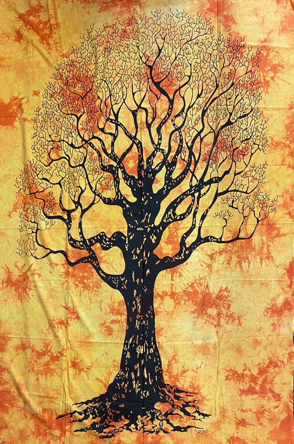 Tree of Life Cotton Tapestry ( Twin / Single )