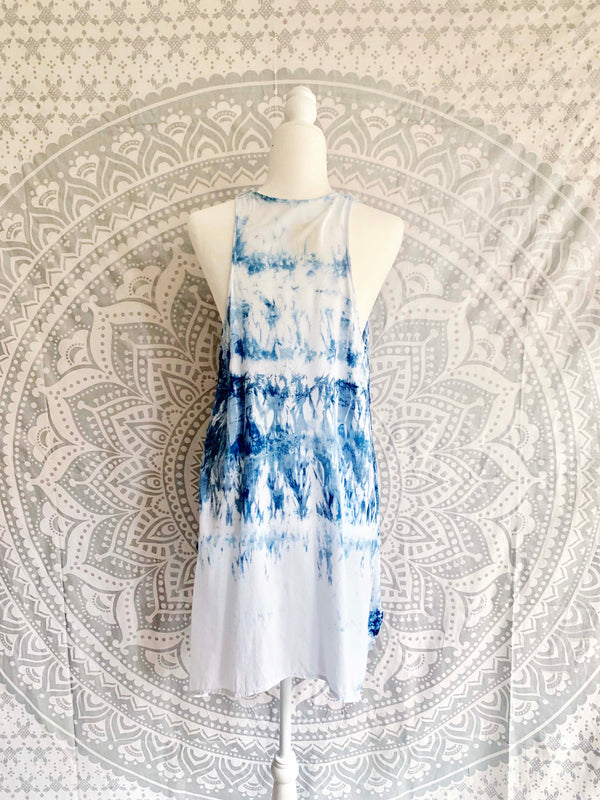 Sleeveless Tie Dye Rayon Top