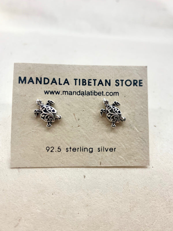 Turtle Sterling Silver Stud