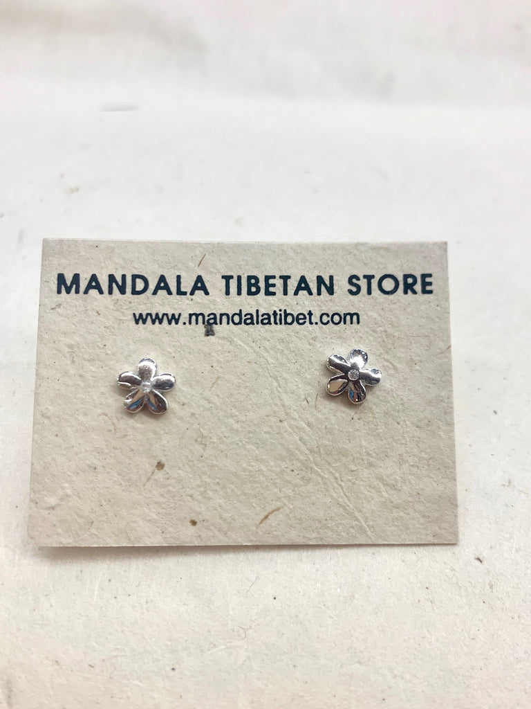 Small Flower Sterling Silver Studs