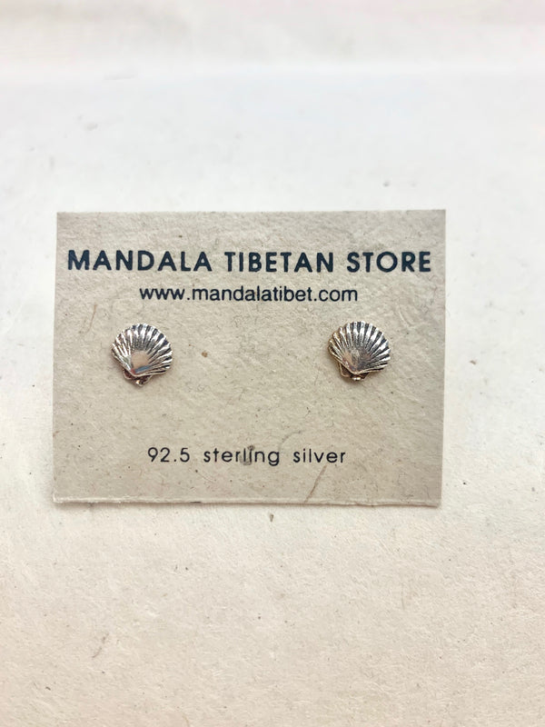 Seashell Sterling Silver Stud