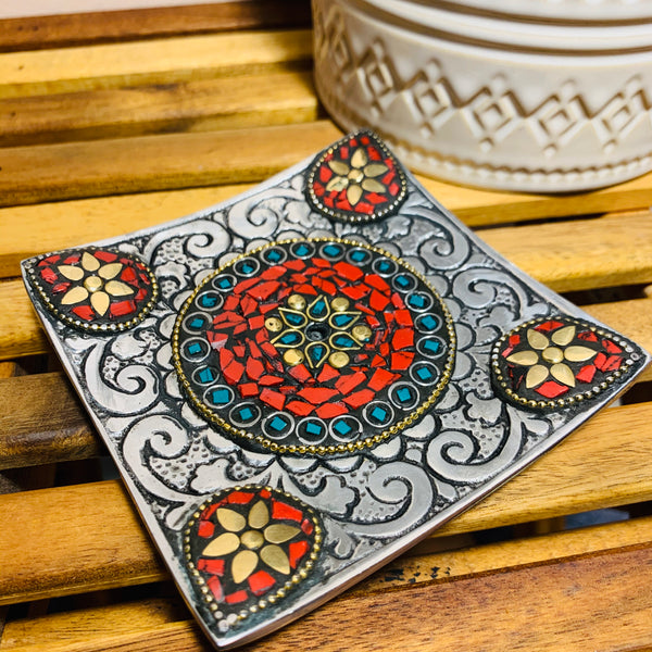 Stone Inlay Incense Burner Plate