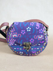 Bag - Tribal Canvas Leather Satchel