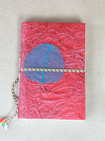 Book - Large Leaf Rice Paper Journal