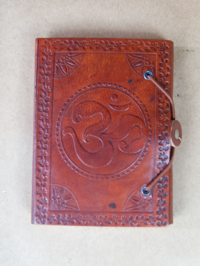 Book - Medium Leather Bound Rice Paper Journal