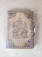 Book - Small Antique Finished Rice Paper Leather Journal