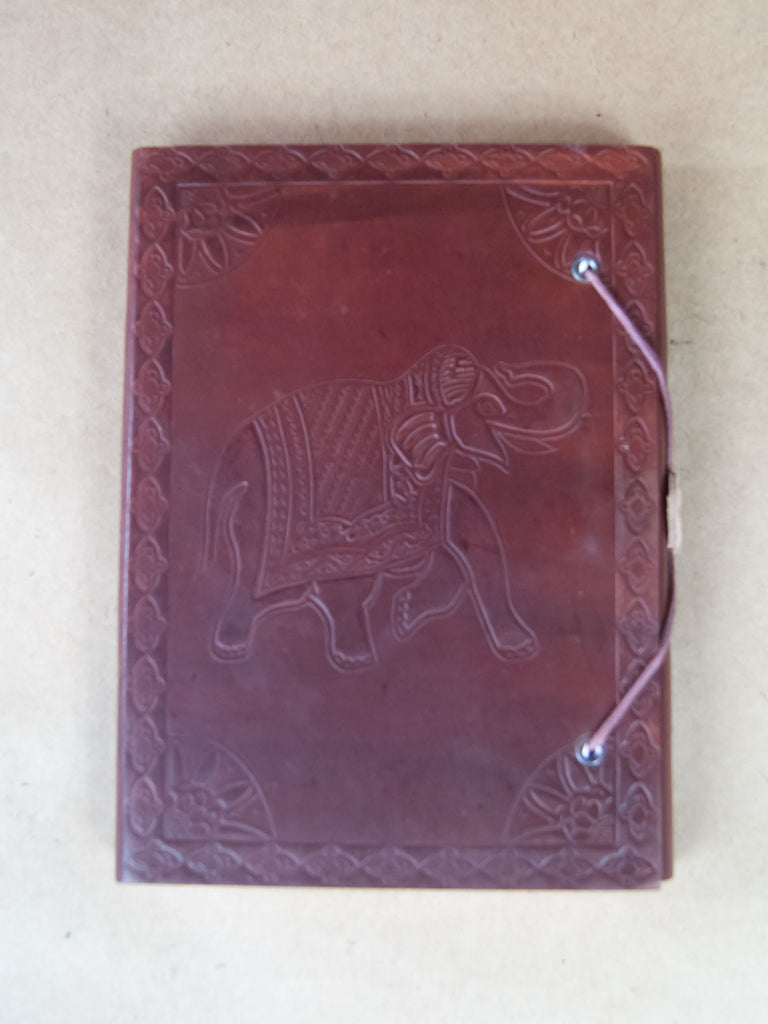 Book - Small Leather Bound Rice Paper Journal