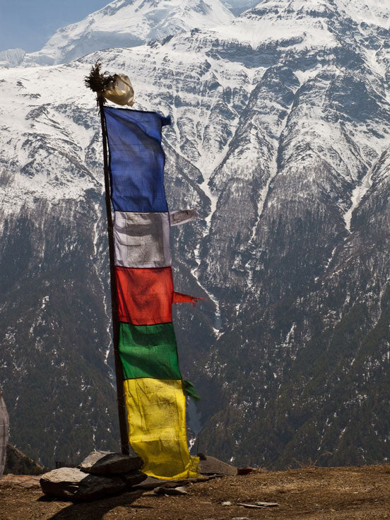 Vertical Tibetan Prayer Flags Darchok
