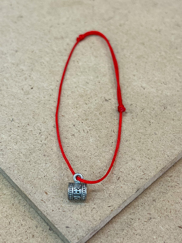 Red String Bracelet with Charms