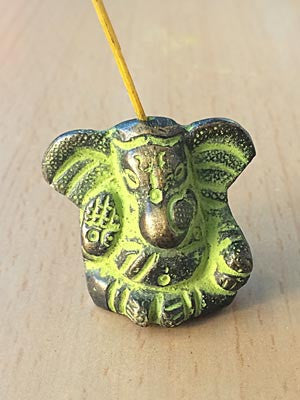 Incense Burner - Ganesha Miniature Brass Incense Burner