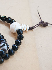 Malabead - Black Onyx With Bone Mala