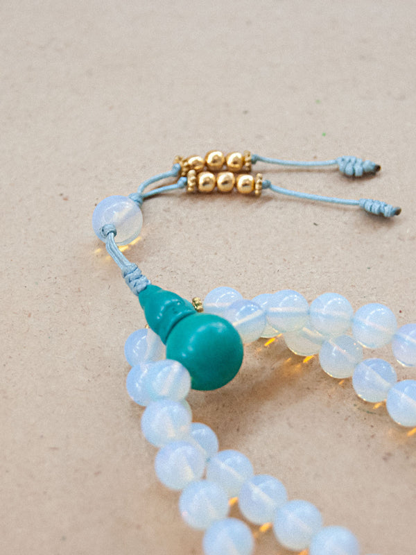 Malabead - Blue Opal Mala Bead With Turquoise