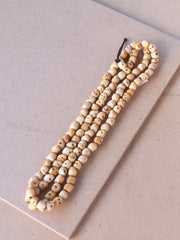 Malabead - Brown SkullBone Mala Bead