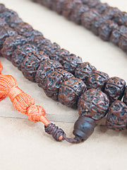 Malabead - Dark Smooth Rudraksha Mala Bead