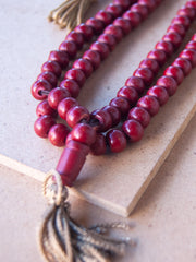 Malabead - Red Wood Mala Bead With Counters