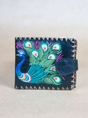 Purse - Peacock Button Clip Lavishy Wallet