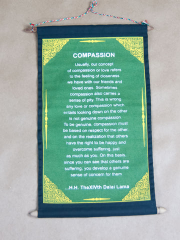 Scroll - Compassion H.H Dalai Lama Quote Scroll