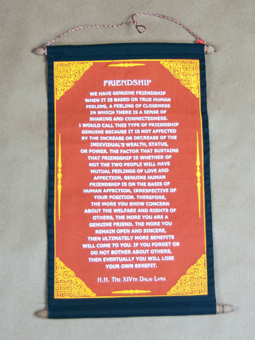 Scroll - Friendship H.H Dalai Lama Quote Scroll