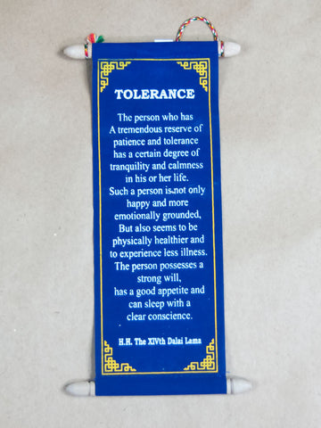 Scroll - Small Tolerance H.H Dalai Lama Quote Scroll