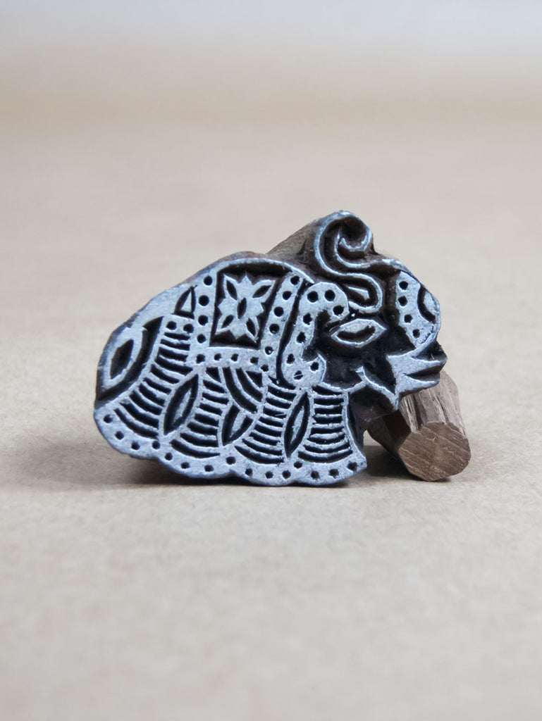 Stamp - Wooden Elephant Block Print Stamp