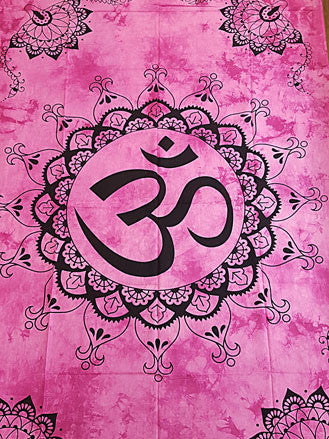 Tapestry - Twin Sized Circular Om