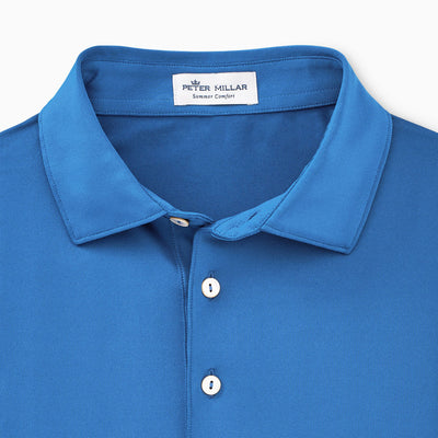 Peter Millar - Mens Solid Stretch Jersey Polo - IBERIAN BLUE