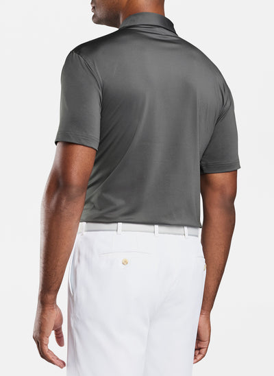 Peter Millar -Mens Solid Performance Polo - IRON -SZ Medium