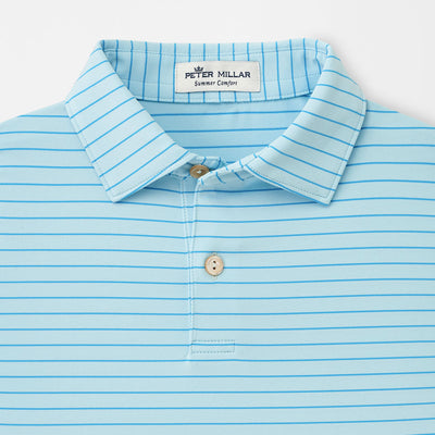 Peter Millar -Youth Crafty Performance Polo- SKYLIGHT - SZ SMALL
