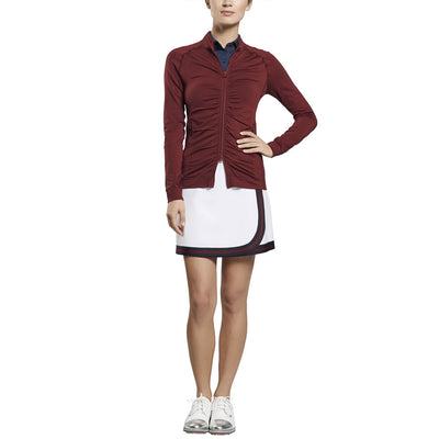G/FORE WOMENS RUCHED MIDLAYER - CABERNET - SZ Small