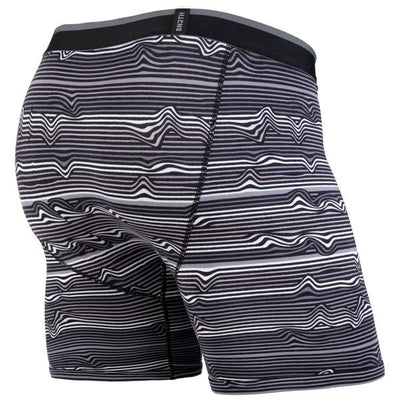 BEN3TH MENS - CLASSICS BOXER BRIEF: WARP STRIPE/BLACK