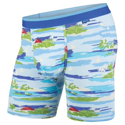 BEN3TH MENS - CLASSICS BOXER BRIEF: MAUI WOWI BRIGHT BLUE