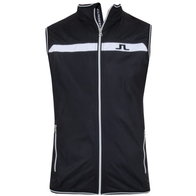 J. LINDEBERG Men's - WIND VEST WINDPRO - BLACK
