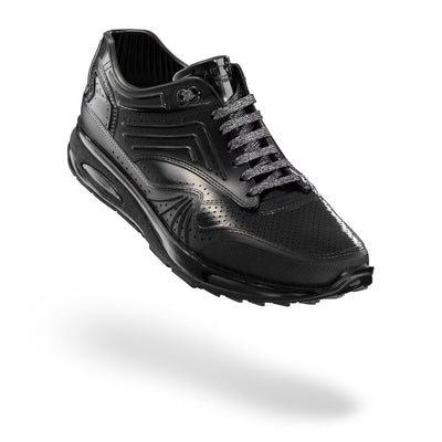 AirDP Style Mens MATEO PVC Sneakers - BLACK