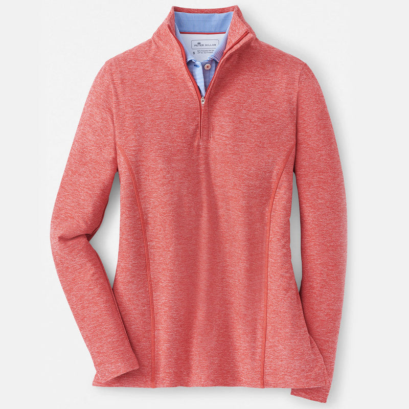 Peter Millar Women's Mélange Perth Pullover- POPPY - sz Small