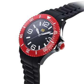 40NINE Black and Red Watch