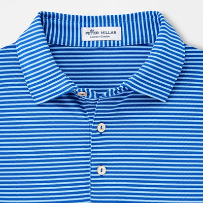 Peter Millar - Mens Grace Stretch Mesh Performance Polo - BLUE LAPIS