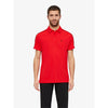 J Lindeberg Mens - GLENN REG TX JERSEY POLO SHIRT - Racing Red