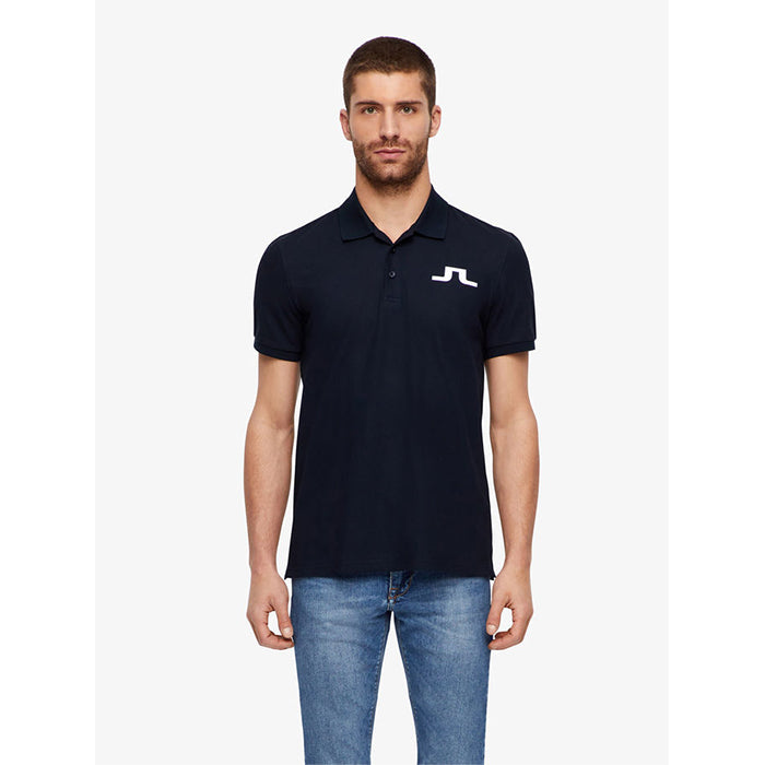 J Lindeberg Mens - Big Bridge TX Jersey Reg Fit Polo - Navy