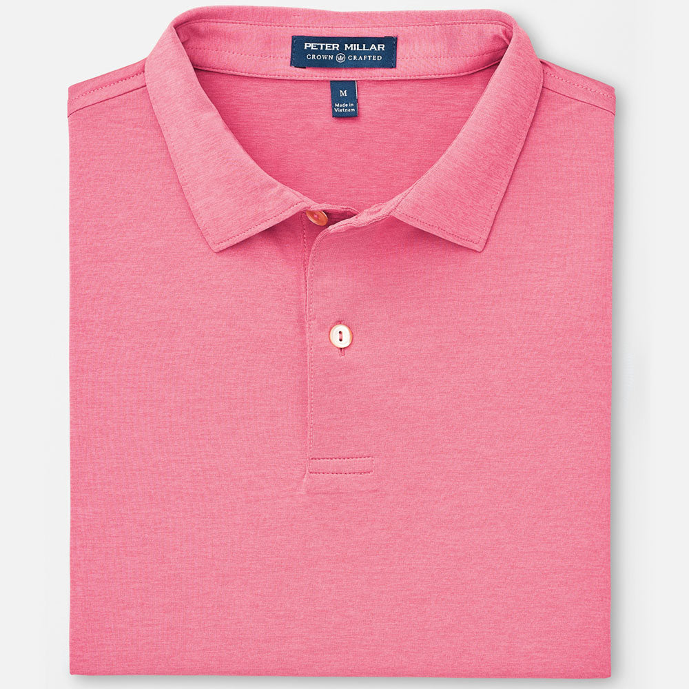 29d34f3663559 Peter Millar - Mens Crown Crafted Solid Stretch Jersey TOUR FIT Polo -  ANTIQUE ROSE -SZ Medium
