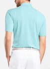 Peter Millar - Mens Solid Stretch Piqué Mesh Polo- SEA SHORE - sz Medium