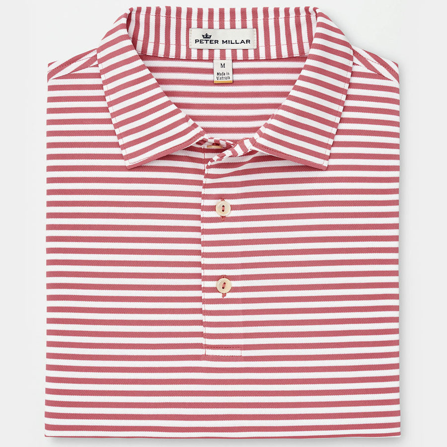 82fe1127 Peter Millar - Tygra Stripe Stretch Piqué Mesh Polo- LANAI - sz Medium