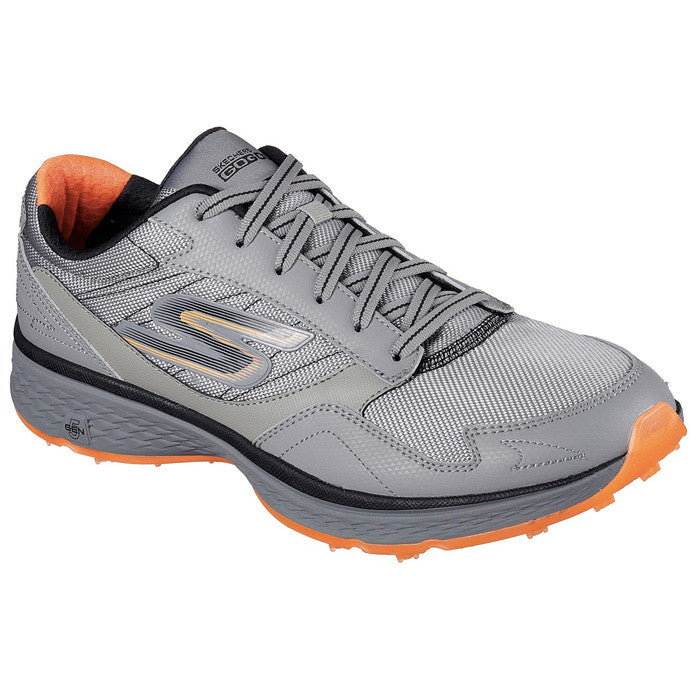 SKECHERS MENS GO GOLF FAIRWAY - GRAY / ORANGE