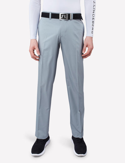 J.LINDEBERG MENS ELOF REG FIT LIGHT POLY PANT - GRANITE