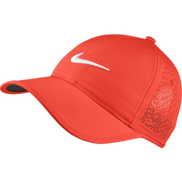 Nike Women's Perforated Golf Hats - MAX ORANGE/WHITE
