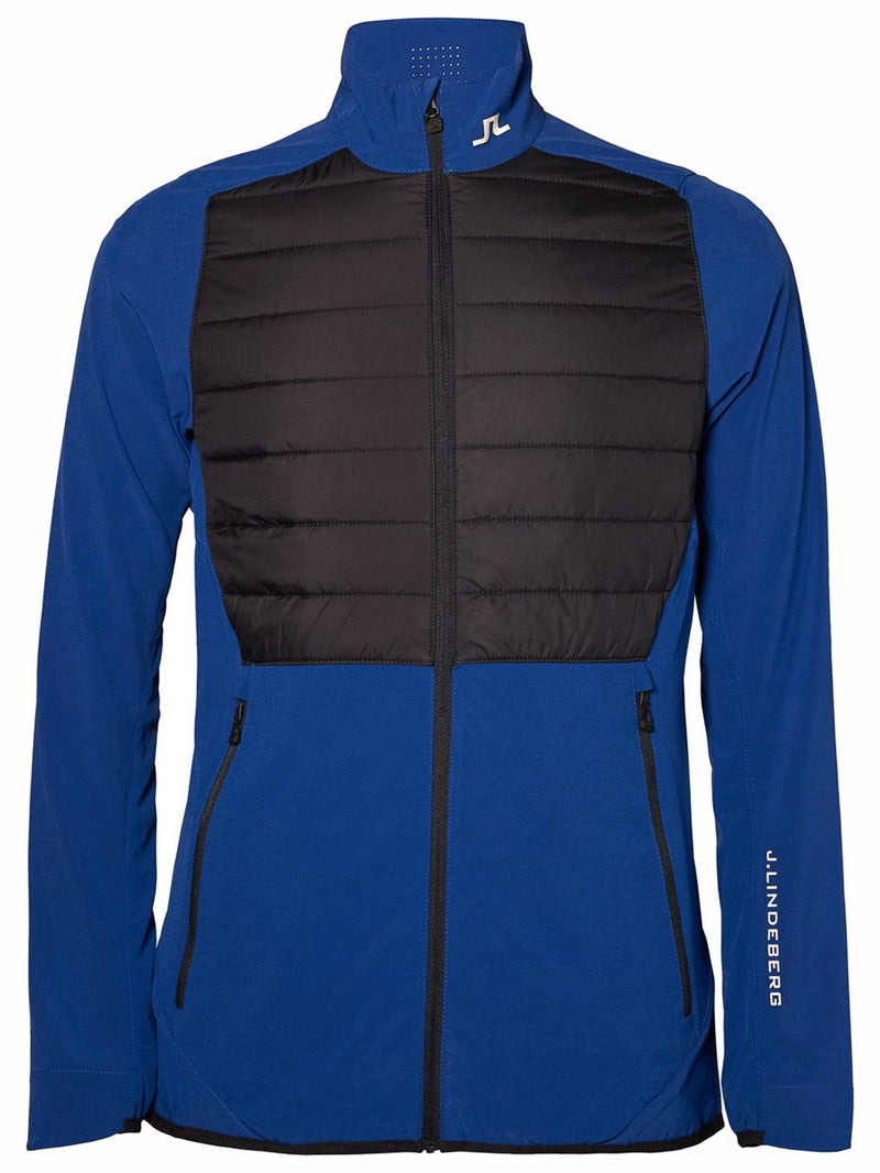 J Lindeberg Men's Hybrid Jacket Mixed Poly - STRONG BLUE