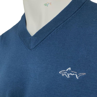 Greg Norman Collection Men's Solid V-Neck Sweater - Petrol