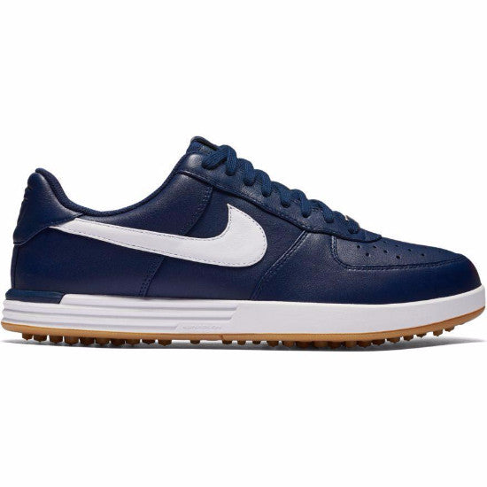 Nike Men's Lunar Force 1 G Golf Shoes - MIDNIGHT NAVY/WHITE-GUM YELLOW